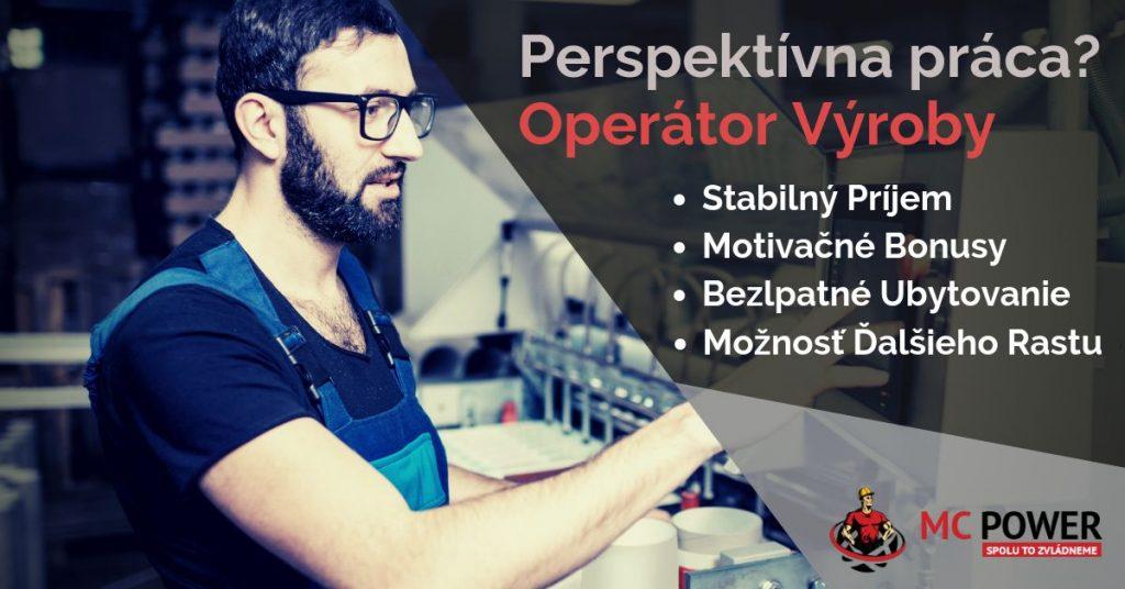 Ponuka práce: Operátor výroby | MC Power