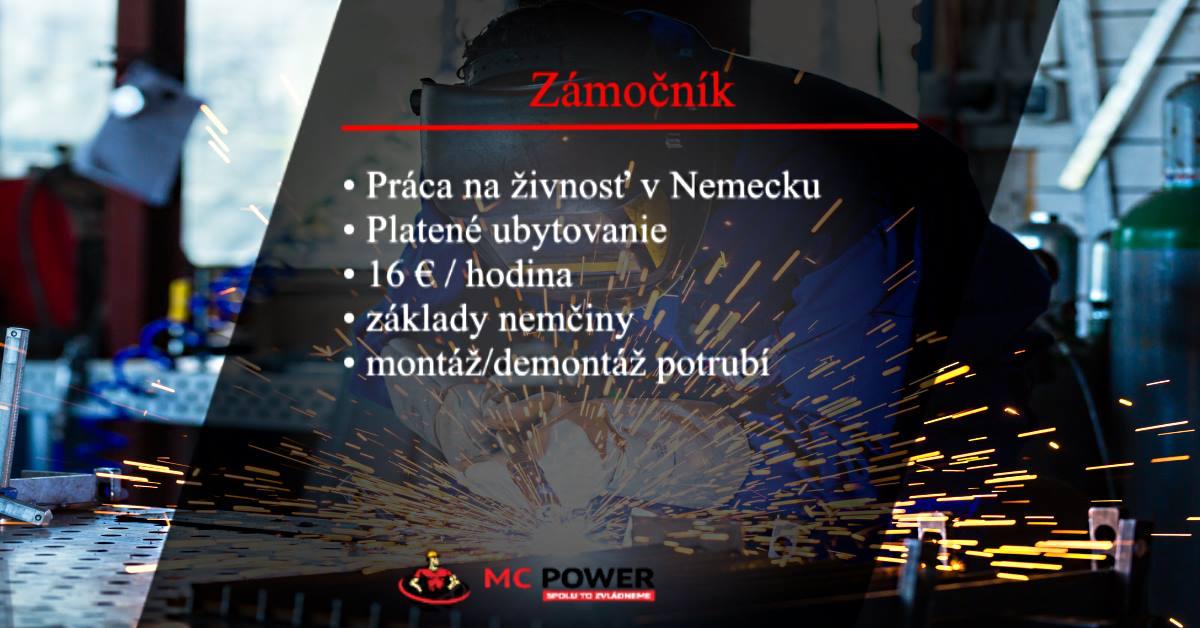 Ponuka práce: Zámočník v Nemecku | MC Power